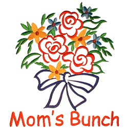 Moms Bunch embroidery design