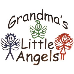 Grandmas Little Angels embroidery design
