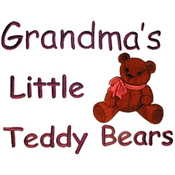 Little Teddy Bears embroidery design
