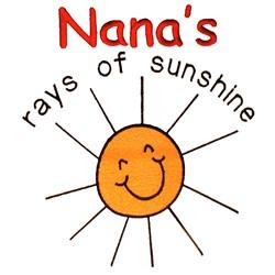 Nanas Rays of Sunshine embroidery design