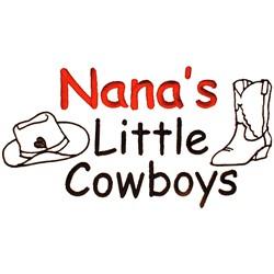 Nanas Little Cowboys embroidery design