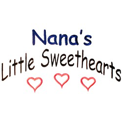 Nanas Little Sweethearts embroidery design