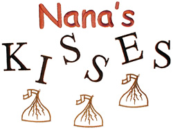 Nanas Kisses embroidery design