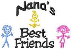 Nanas Best Friends embroidery design