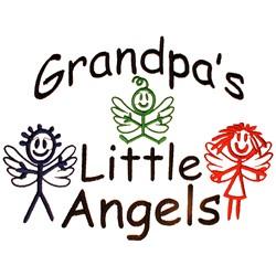 Grandpas Little Angels embroidery design
