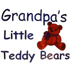 Grandpas Teddy Bears embroidery design