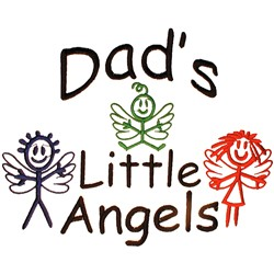 Dads Little Angels embroidery design