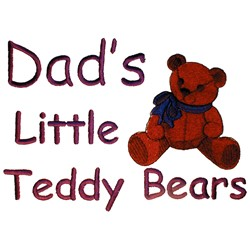 Dads Teddy Bears embroidery design
