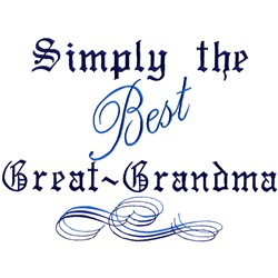 Best Great Grandma embroidery design