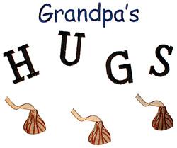 Grandpas Hugs embroidery design