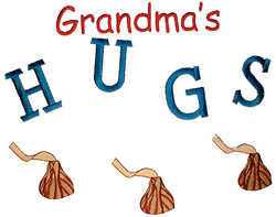 Grandmas Hugs embroidery design