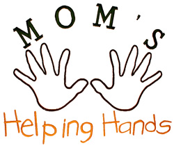 Moms Helping Hands embroidery design