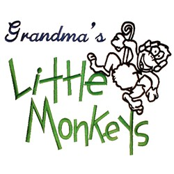 Grandmas Little Monkeys embroidery design