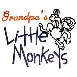 Grandpas Little Monkeys embroidery design