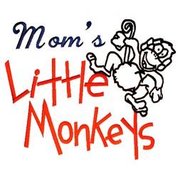 Moms Little Monkeys embroidery design