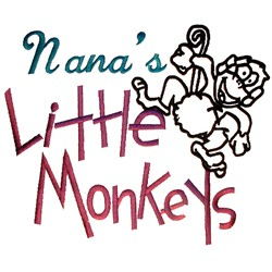 Nanas Little Monkeys embroidery design