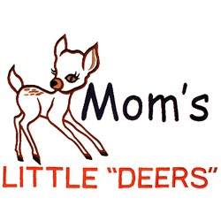"Moms Little ""Deers"" embroidery design"