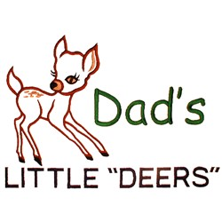 "Dads Little ""Deers"" embroidery design"