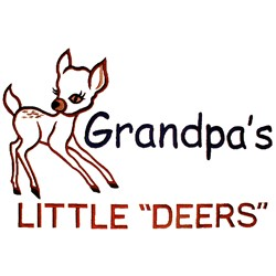 "Grandpas Little ""Deers"" embroidery design"