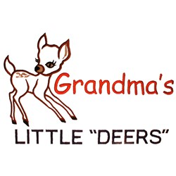 "Grandmas Little ""Deers"" embroidery design"