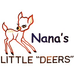 "Nanas Little ""Deers"" embroidery design"