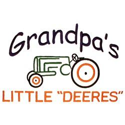 "Grandpas Little ""Deeres"" embroidery design"