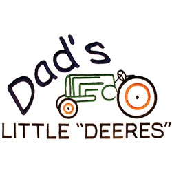 "Dads Little ""Deeres"" embroidery design"