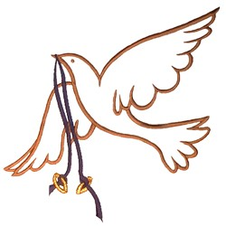 Dove with Rings embroidery design