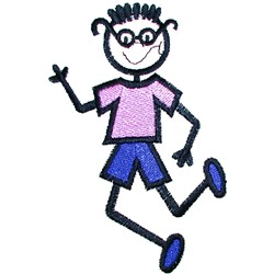 Boy with Glasses embroidery design