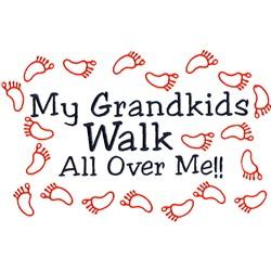Grandkids Walk embroidery design