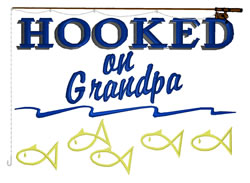 Hooked On Grandpa embroidery design