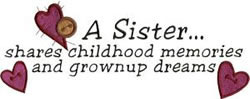 Sister Saying embroidery design
