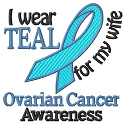 Ovarian Cancer Wife embroidery design