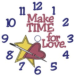 Make Time For Love embroidery design