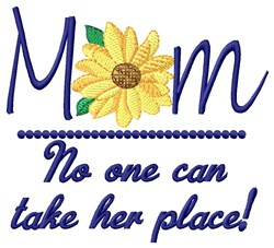 Take Her Place embroidery design