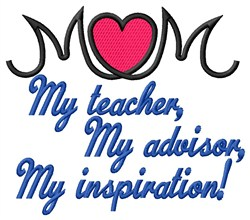 Teacher Mom embroidery design