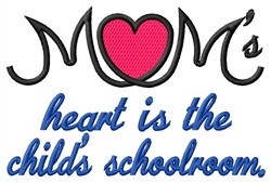 Childs Schoolroom embroidery design
