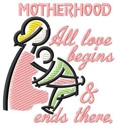 Motherhood embroidery design