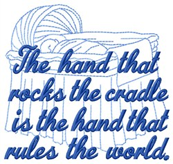 Rocks Cradle embroidery design