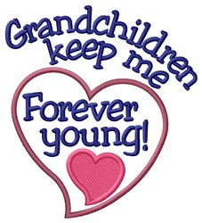 Forever Young embroidery design