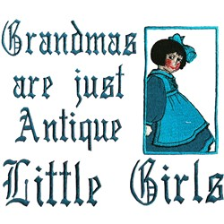 Antique Girls embroidery design