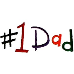 #1 Dad embroidery design