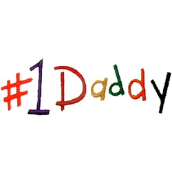 #1 Daddy embroidery design