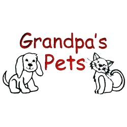 Grandpas pets embroidery design