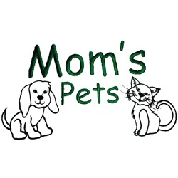 Moms pets embroidery design