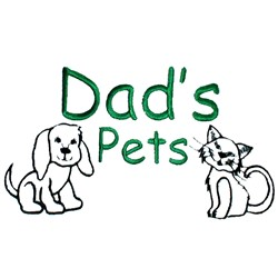 Dads pets embroidery design