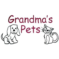 Grandmas Pets embroidery design