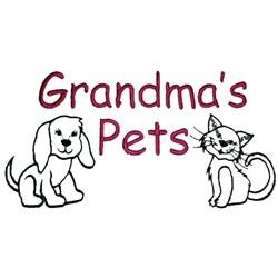 Grandmas Pets embroidery design