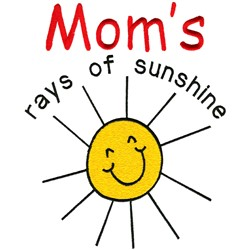 Rays of sunshine embroidery design