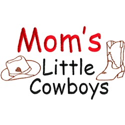 Moms Little Cowboys embroidery design